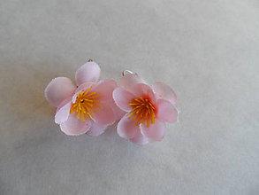Náušnice - nežné ružové náušničky - 7109172_