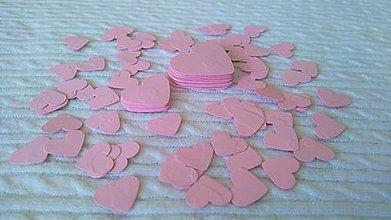Dekorácie - maxi balenie 100 ks srdiečok - ružové - 3 veľkosti - 7106947_