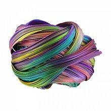 Galantéria - Hodvábna stuha SHIBORI Purple passion borealis - 7108388_