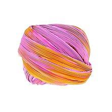 Galantéria - Hodvábna stuha Shibori Pink Sunset - 7108614_