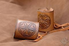 Iné doplnky - Kožený náramok - nátepník Svarga - 7109137_