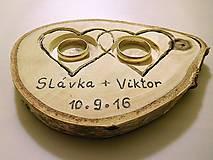 Prstene - vintage svadba/vankúšik pod svadobné prstene VI - 7107044_