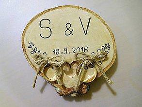 Prstene - vintage svadba/vankúšik pod svadobné prstene V - 7107021_