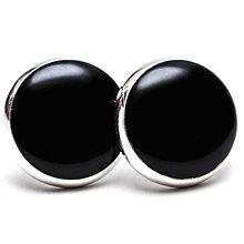 Náušnice - Kolekcia: Farby - Pure Black - 7106468_