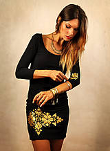Jednoduché čierne šaty - Little black and gold