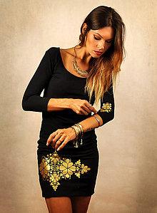Šaty - Jednoduché čierne šaty - Little black and gold - 7106853_