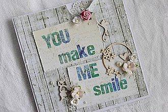 Papiernictvo - Pohľadnica - you make me smile - 7109949_
