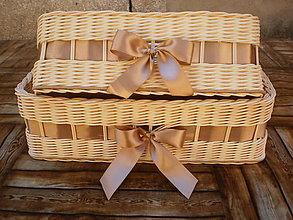 Košíky - Svadobné koše - 7107223_