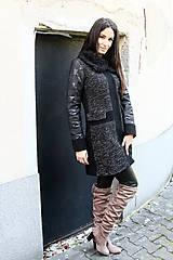 Kabáty - Kabát PIU ELEGANCE sivý - 7107955_