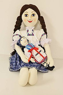 Hračky - bábika textilná veľká MARA /na želanie/ - 7107520_