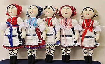 Bábiky - bábika folk Mara /malá ľudová/ maľovaná tvár - 7107627_