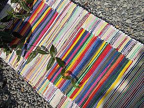 Úžitkový textil - Pestrofarebný koberec so štvorcami - 7110822_