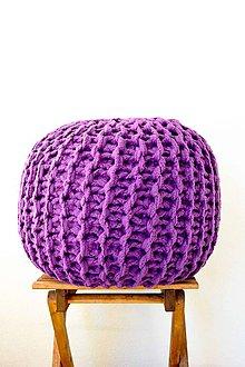Úžitkový textil - _PuFo... fialový... MeGa ZĽaVa ☺ - 7112010_
