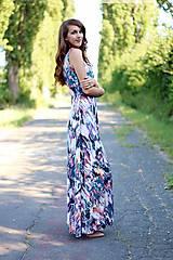 - Dlhé šaty so vzorom ZĽAVA!!! - 7111573_