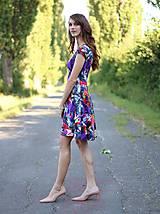 - ZĽAVA!! Šaty s pol kruhovou sukňou pestrofarebné - 7111745_