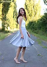 - Midi sukňa s vreckami šedá  - 7112197_