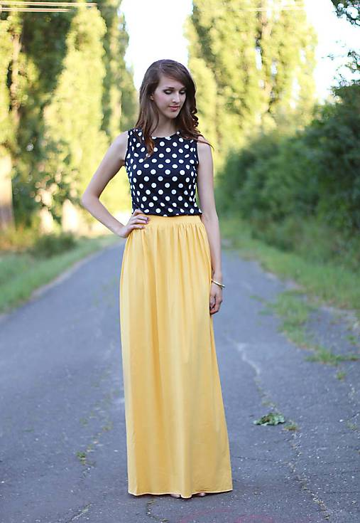 4a435d492b20 Dlhá sukňa žltá ZĽAVA!!!   ZuzanaZachar - SAShE.sk - Handmade Sukne