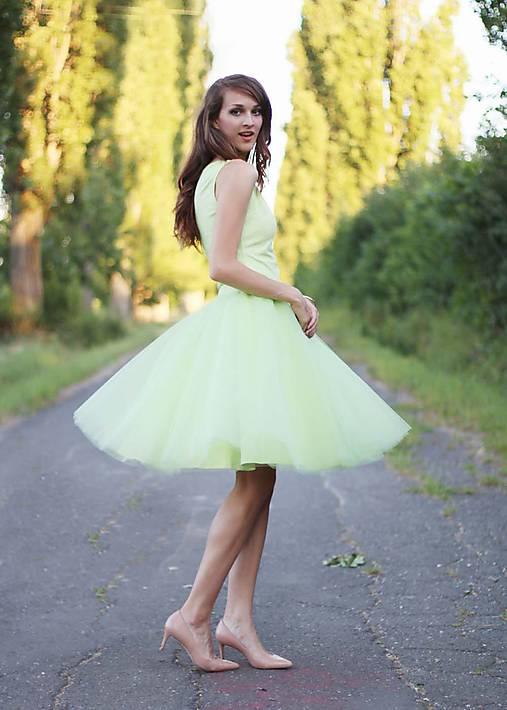 Sukne - Tylová sukňa 6 vrstiev  - 7112238_