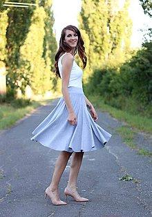 Sukne - Midi sukňa s vreckami šedá - 7112197_