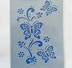 Pomôcky/Nástroje - Šablóna - 15x20 cm - motýľ, kvet, ornament - 7111022_