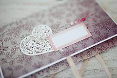 Papiernictvo - Scrapbook obálka na peniaze - svadobná - 7113121_