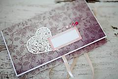 Papiernictvo - Scrapbook obálka na peniaze - svadobná - 7113123_