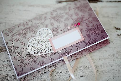 Scrapbook obálka na peniaze - svadobná
