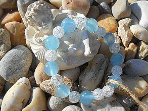 Náramky - cristall and blue.. - 7110842_