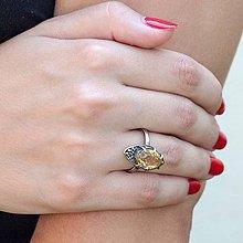 Prstene - Strieborný prsteň - Znáška - 7112873_