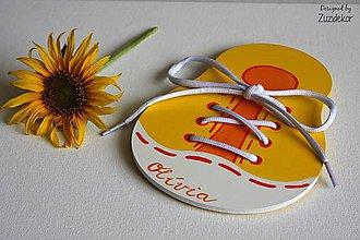 Hračky - Šnurovacia hračka na jemnú motoriku - žltá/oranžová - 7113427_