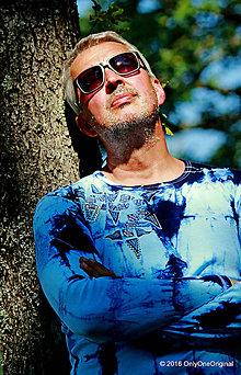 Tričká - Pánske tričko batikované, maľované, etno  TOTENTOTEM - 7110439_