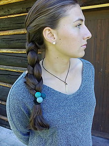 Ozdoby do vlasov - Gumička do vlasov s plstenými guličkami - 7111021_