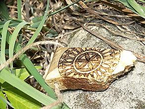 Náhrdelníky - Svarogovo oko - drevený prívesok (agát) - 7113473_