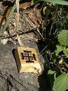 Náhrdelníky - Ruky Boga - drevený prívesok (agát) - 7113598_