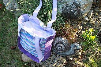 Kabelky - fialová melírovaná - 7110241_
