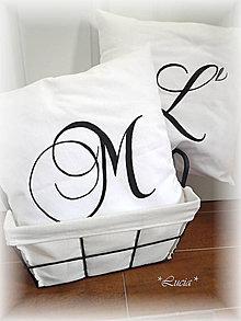 Úžitkový textil - Obliečky s písmenkom - 7113113_