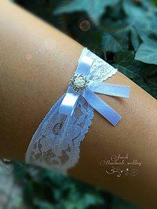 Bielizeň/Plavky - Jednoduchý svadobný podväzok - 7112507_