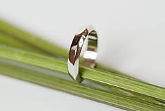 Prstene - Obrúčka trojuholníková - asymetrická - 7111860_
