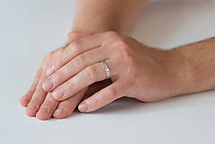 Prstene - Obrúčka obdĺžniková - tepané čiarky - 7113336_