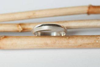 Prstene - Obrúčka trojuholníková - úzka - 7111594_