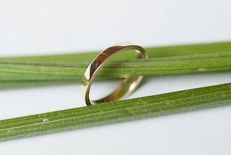 Prstene - Obrúčka trojuholníková - šikmá - 7111884_