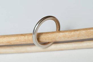 Prstene - Obrúčka kruhová - spolštená - 7113248_