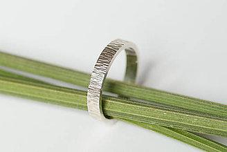 Prstene - Obrúčka obdĺžniková - tepané čiarky - 7113333_