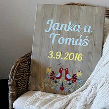 Tabuľky - Folklórna svadobná doska - 7111460_