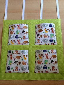 Textil - Zelený zvieratkový kapsárik - 7113417_