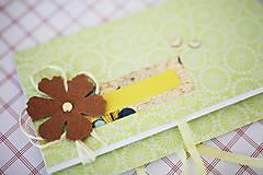 Papiernictvo - Obálka na peniaze - zelená - 7114856_