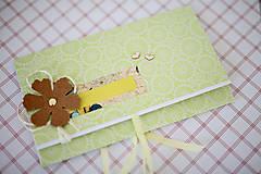 Papiernictvo - Obálka na peniaze - zelená - 7114857_