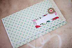 Papiernictvo - Scrapbook obálka na peniaze - 7114918_