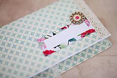 Papiernictvo - Scrapbook obálka na peniaze  - 7114919_