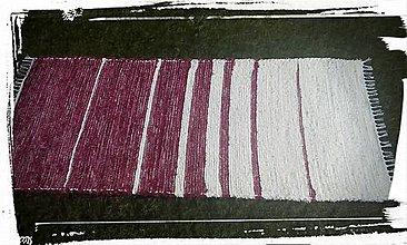 Úžitkový textil - Koberček červeno-biely - 7114617_